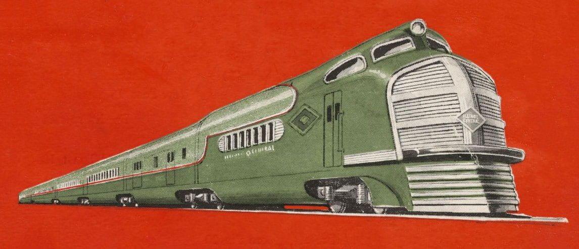 Illinois Central Railroad Menu