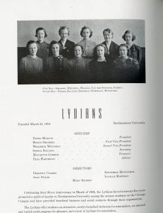 Lydians 1938 yearbook