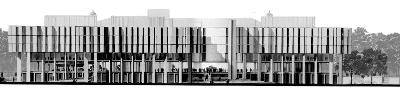 hiorizontal library sketch