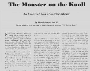 Daily article re Deering
