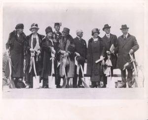 Groundbreaking for Northwestern's new Chicago campus, 1925