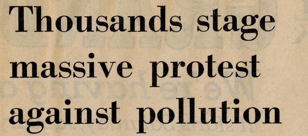 Evanston Review headline, January 26, 1970