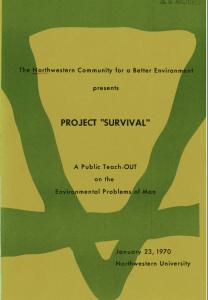 Project Survival program cover