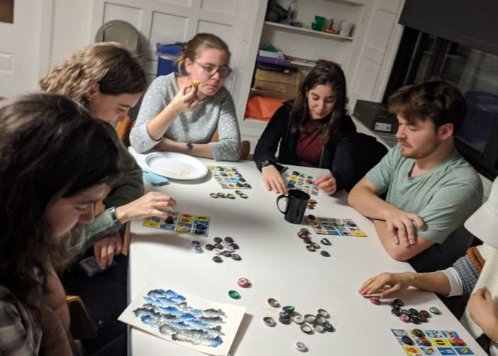 residents playing lotería