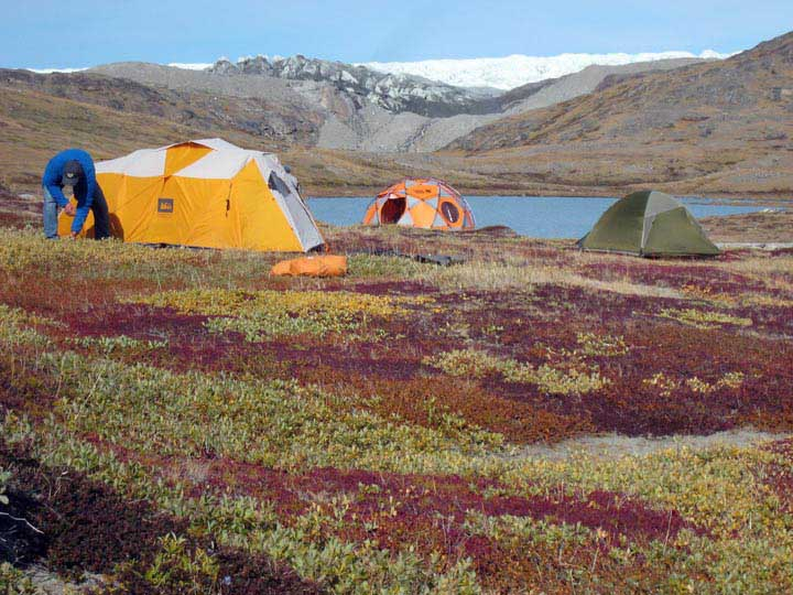 Camp, near the Kangerlussuaq ice margin.