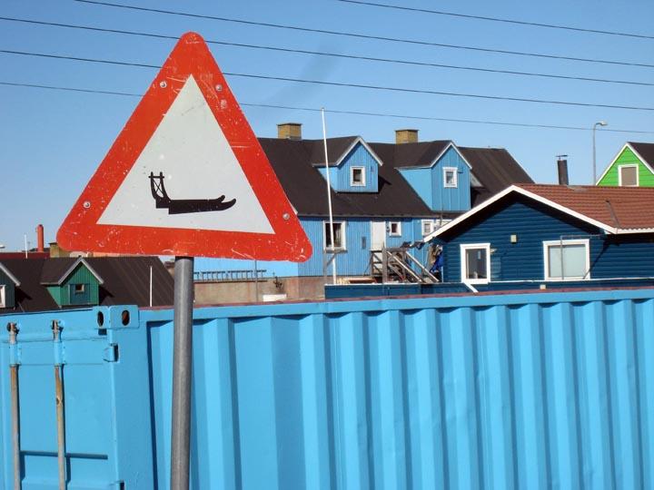 Street sign, Ilullissat.