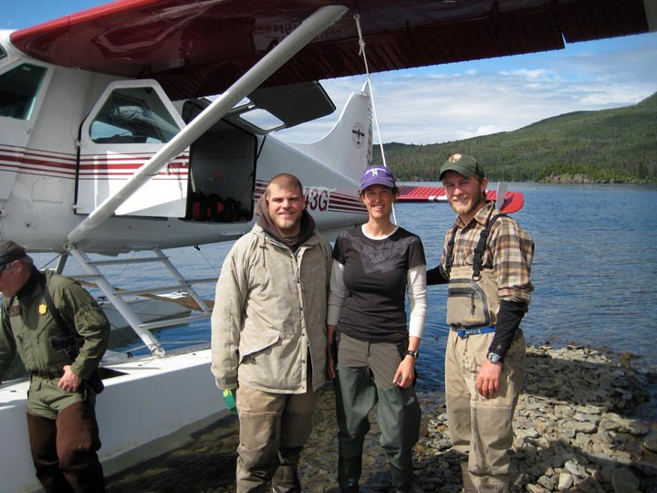 Thanks to these Northwestern alums (Kyle and Mark), who were conducting fish research in Katmai NP and allowed me to crash their camp for a bit.