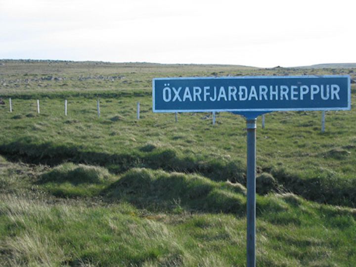 Signage, northeast Iceland.
