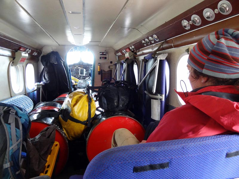 A cozy Twin Otter ride back to Constable Pynt.