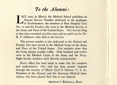 Northwestern University Medical School Faculty Members in the service. Northwestern University Bulletin, 1918
