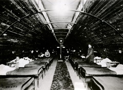 Inside of a ward