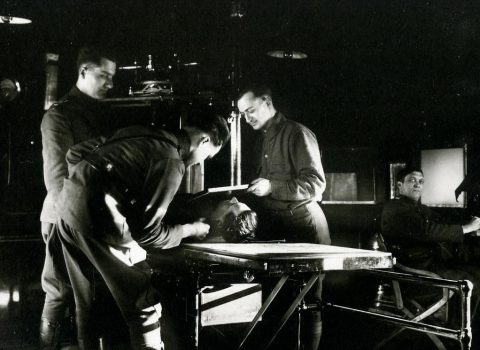 Medical Staff using the x-ray on a patient
