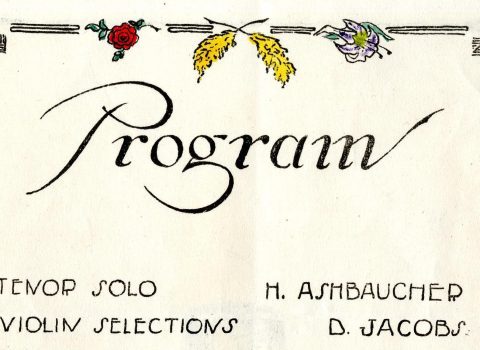 Entertainment programs, 1917-1918. For events mounted in base camps, and while on leave in Paris.