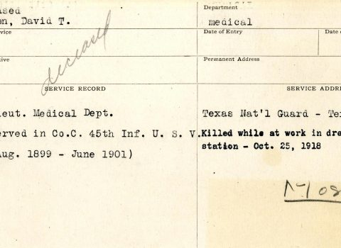 Northwestern University War Service Record, undated