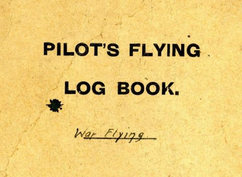 Pilot's Flying Log Book, 1918