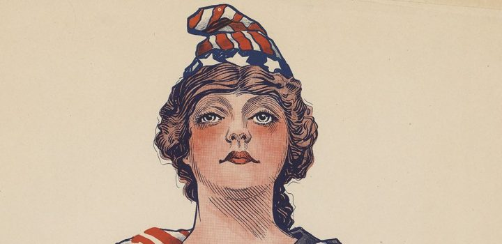 """Be patriotic – sign your country's pledge to save the food."" Paul Stahr: 1917; United States Food Administration."