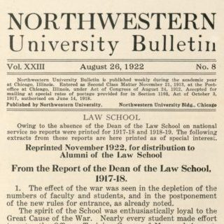 Northwestern Bulletin, 1922