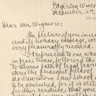 Letter from James Henderson to Wigmore, 27 December 1917
