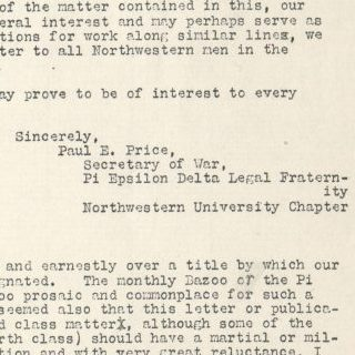 Pi Epsilon Delta Newsletter, Issue 1, ca. 1917