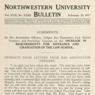Northwestern University Bulletin, 1917