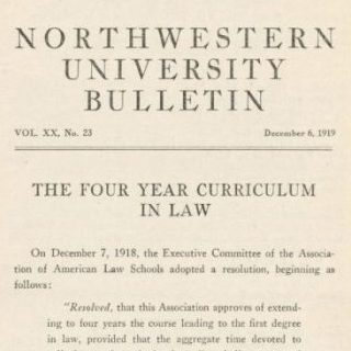 Northwestern University Bulletin, 1919