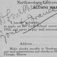 Alumni War Fund Subscription Cards, 1917