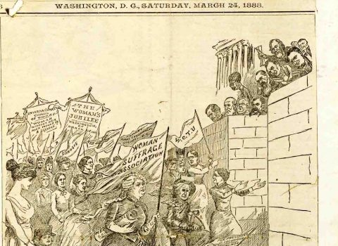 """Capturing Congress,"" The Hatchet, March 24, 1888. FWHA"