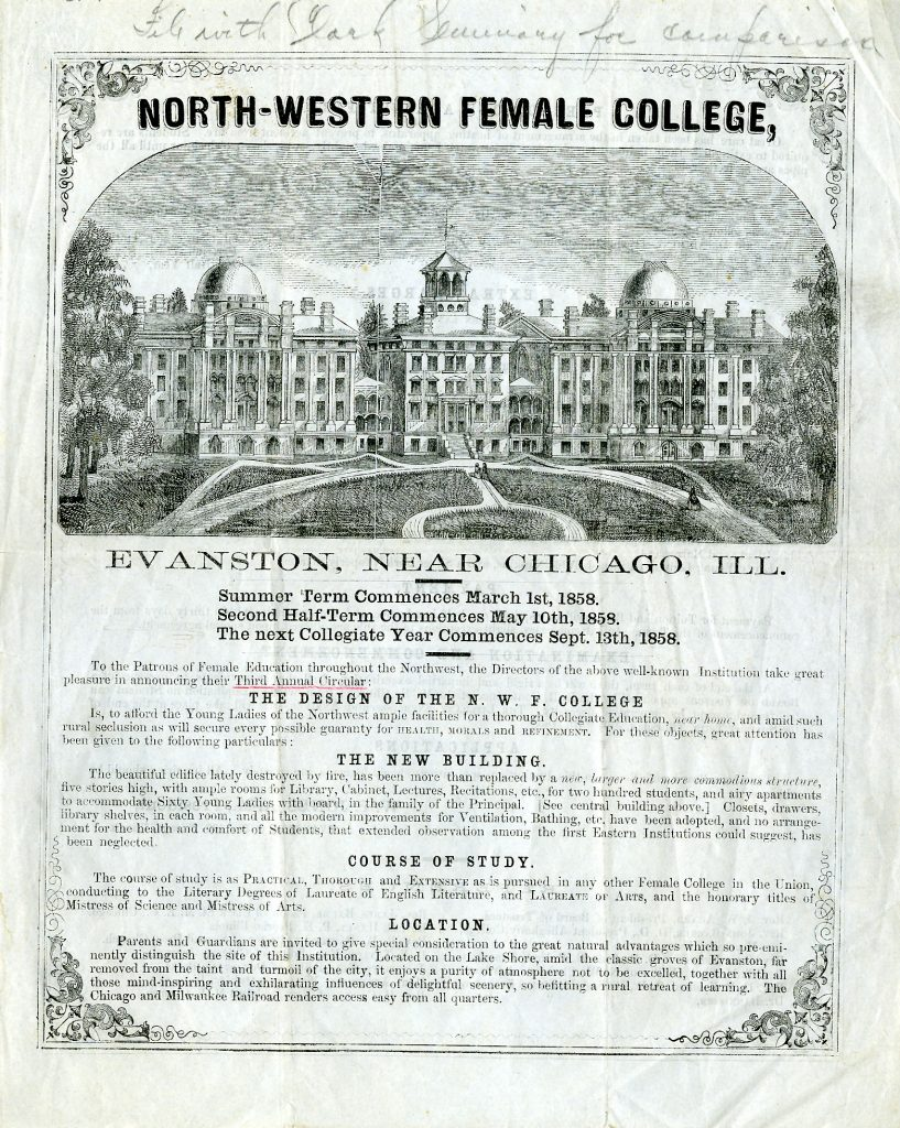 Circular (Catalog) of the North-Western Female College