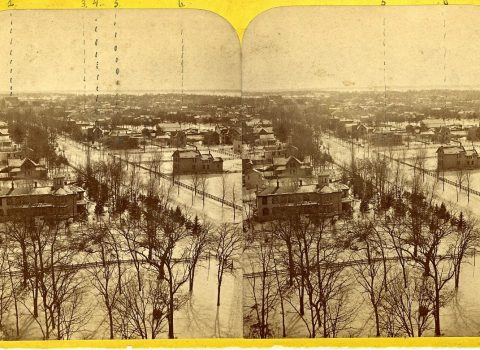 Evanston, Early 1870s, Looking South from University Hall