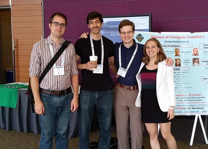 Joe, Majed, Michael, and Sam at ACS Boston 2015.