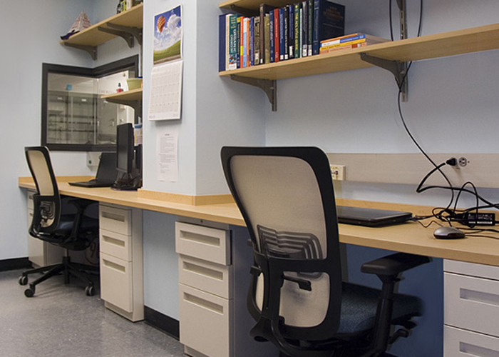 Student office space.