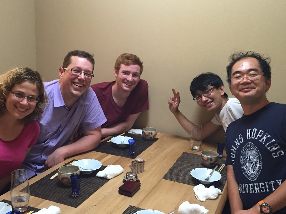 Dinner with collaborators in Japan.