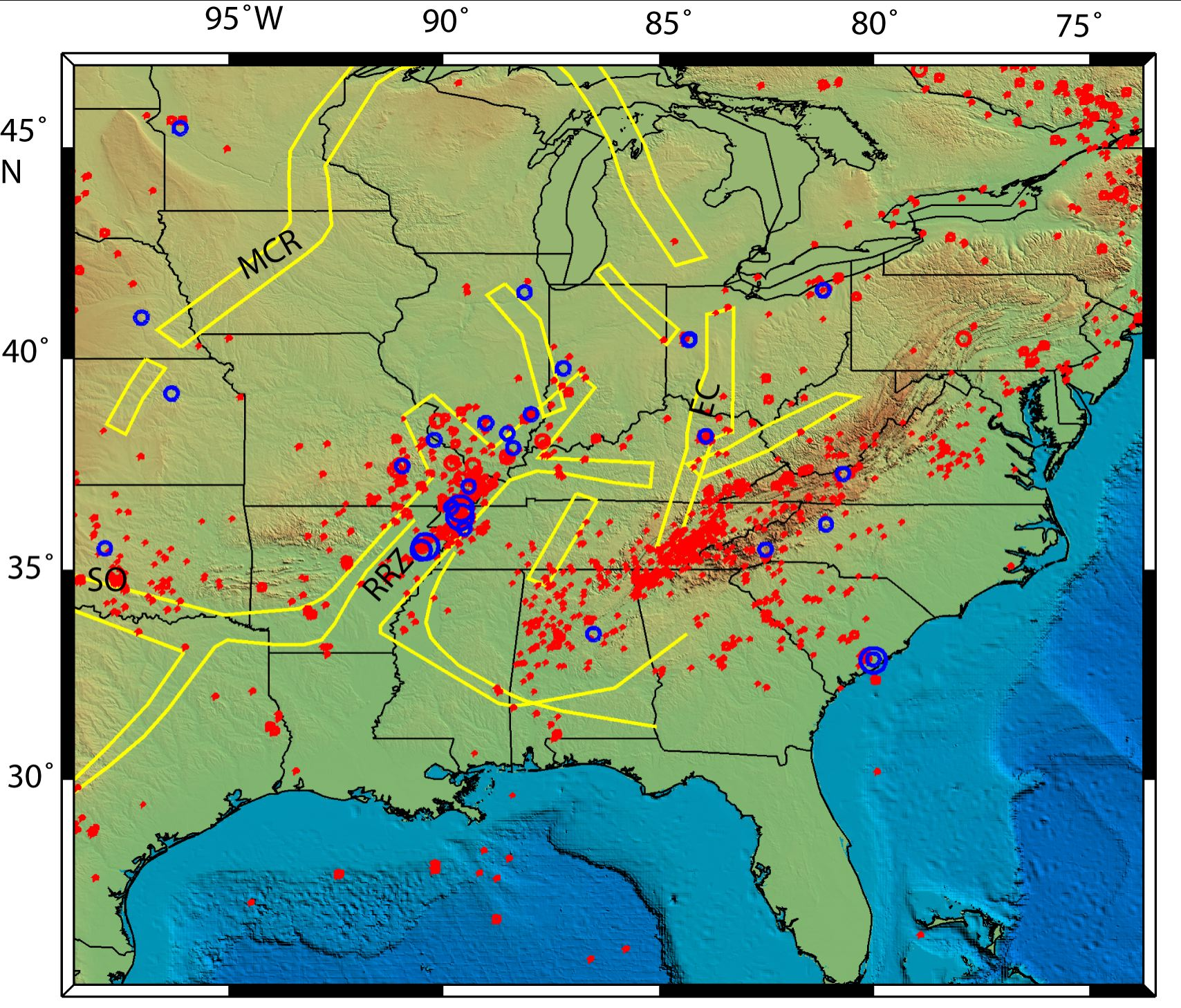 New Madrid Seismic Zone: A cold, dying fault? | Seth Stein on seismic risk map, new york state seismic map, seismic category map, ibc seismic classification map, us seismicity map, us wind map, us ground snow load map, us soils map, global seismic hazard map, level 4 seismic zones map, us frost depth map, california seismic hazard zone map, us heating degree days map, ibc zip code map, us rainfall intensity map, seismic activity map, us altitude map, gsa seismic map, 10 fema zones map, earthquake map,