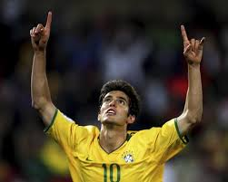 Because I forgot to take pictures, here's Brazilian superstar Kaka celebrating just like I did as I left the consulate.