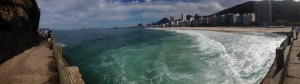One of the wow moments - a view of Copacabana Beach, Rio de Janiero during my morning run.
