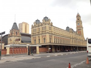 Luz Station, home of the Museum of the Portuguese Language. Sao Paulo, Brazil.