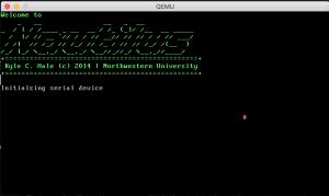 Successfully booted Nautilus kernel - a screen I really want to see without GRUB and SeaBIOS