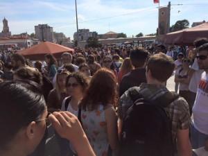 crowd pride march taksim
