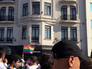 flag pride march