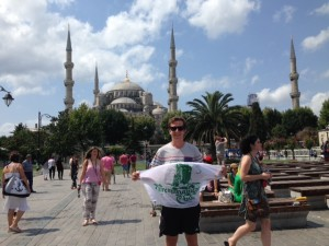Me in front of the Blue Mosque before leaving Istanbul! #ferdinand #magellan