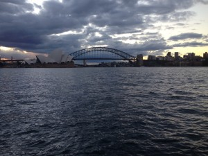 A view of Sydney from the last night of my trip.