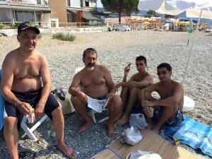 fam at beach