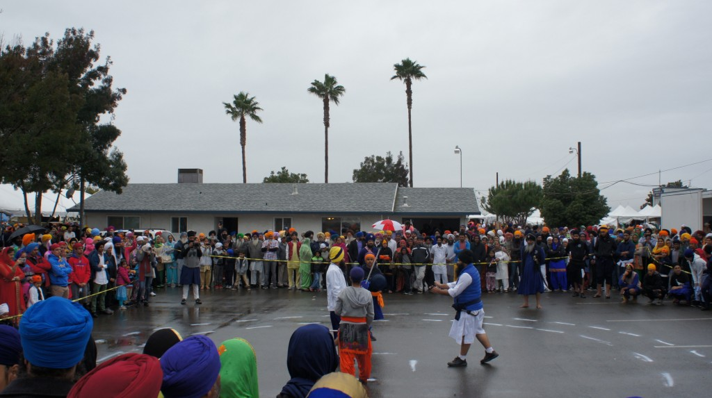 Gatka held on the final day of the festival. The previous day, a day-long gatka tournament was held elsewhere in Yuba City, but I was not able to attend.