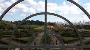The French Gardens, view from inside the greenhouse. Regret = the photo being a tiny bit off-center