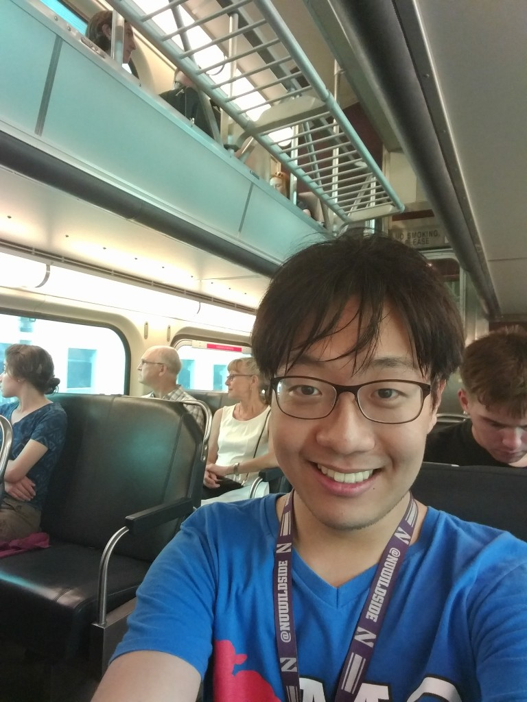 Me again! This time in the Metra train on my way back to Evanston from Chicago downtown.