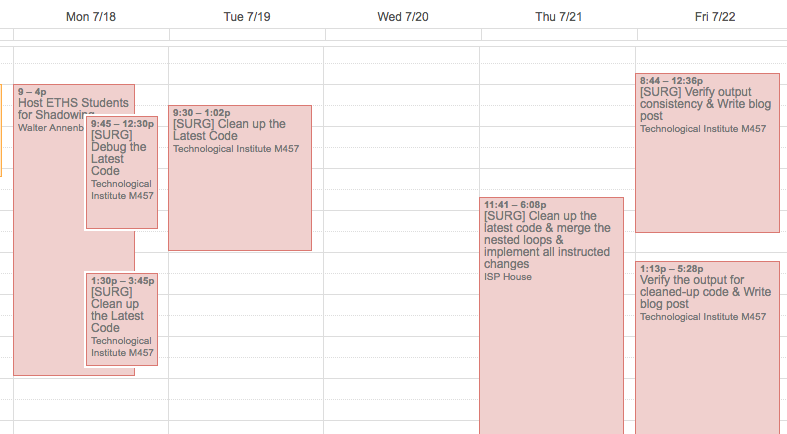 Do you see that huge blank space under Wed 7/20?