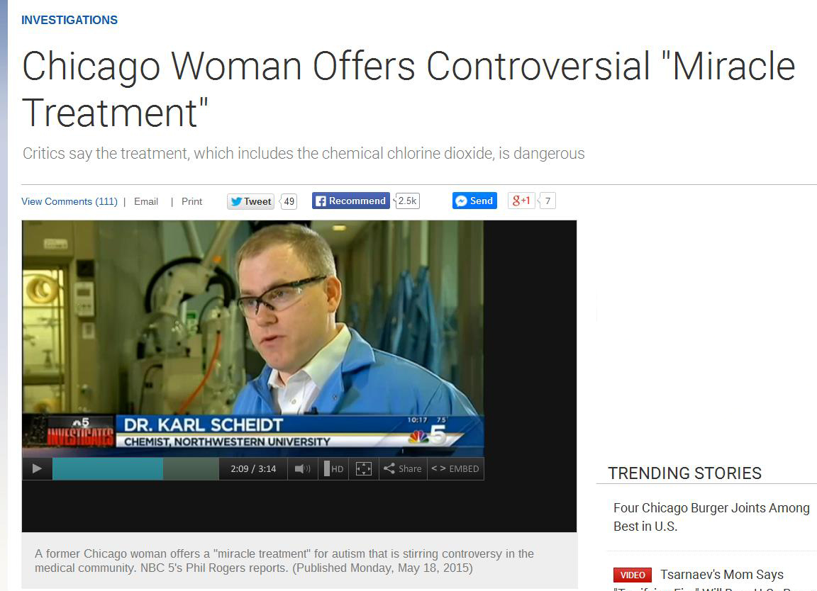 Dr  Karl Scheidt Featured on NBC5 Chicago Autism Treatment Story | CMIDD