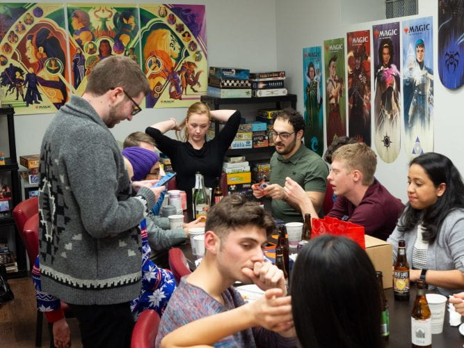 Group holiday party