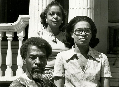 Afro-American Student Affairs staff: Ulysses Jenkins, Assistant Dean, Everne Saxton, Assistant Dean, and Alice J. Palmer, Associate Dean. Photo credit: Alvin Chow