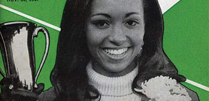 Daphne Maxwell, First Black Homecoming Queen at Northwestern University on the cover of Jet Magazine